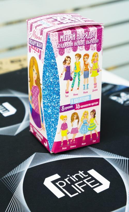 Образец розничной упаковки, отпечатанный на принтере OKI Pro9541